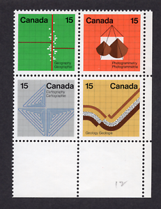 Canada #585a 15 Cent Earth Sciences Issue Corner Block MNH
