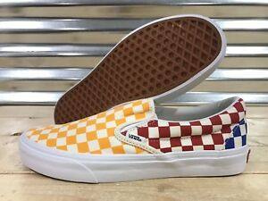 Image is loading Vans-Classic-Slip-On-Skate-Shoes-Checkerboard-Multi- 895800ade