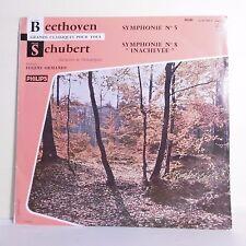 "33T BEETHOVEN - SCHUBERT - Vinyle LP 12""SYMPHONIE N° 5 et 8 E. ORMANDY - PHILIPS"