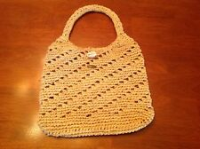SCALA COLLEZIONE Hand Crafted Natural Woven Straw Bag Purse