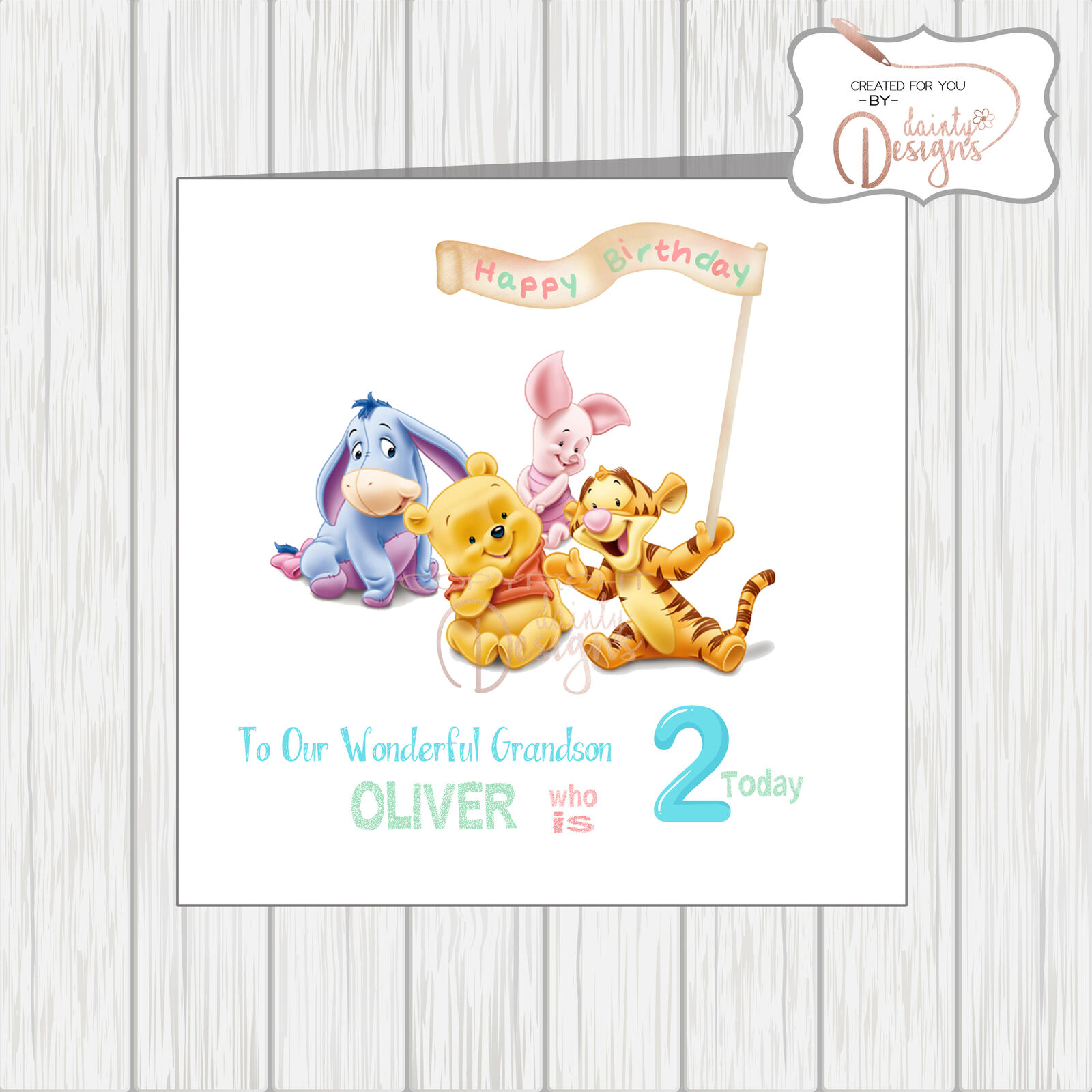 Add your own name /& age In The Night Garden Personalised Birthday Card