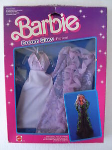 Barbie Dream Glow Fashions Robe Robe étoiles Robe Robe Ok Nrfb 1985 Mattel 2192