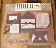 gartner 30 ct invitation kit pocket bride printable embellished seal brown new - Brides Wedding Invitation Kits