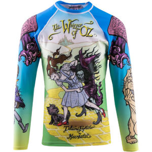 Activewear Men's Clothing Tatami Fightwear X Meerkatsu Whizzer Of Oz Long Sleeve Bjj Rashguard Lustrous