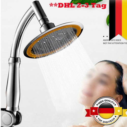 6Inch 2Mode ABS Badezimmer Duschkopf Ultradünner Hochdruck Duschkopf Einstellbar