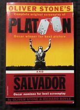 1987 PLATOON & SALVADOR Screenplays Oliver Stone 1st Vintage REVIEW Copy VF