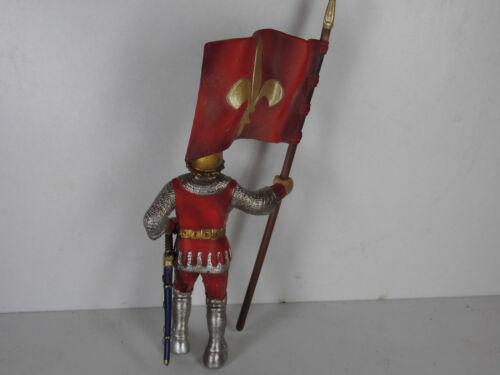 Reiter Liliengruppe Ritter Fußsoldat knight Turnier rot Schleich