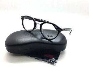 5606a2b081 Ray-Ban RB 5354 2000 Shiny Black Round Plastic Authentic Eyeglasses ...