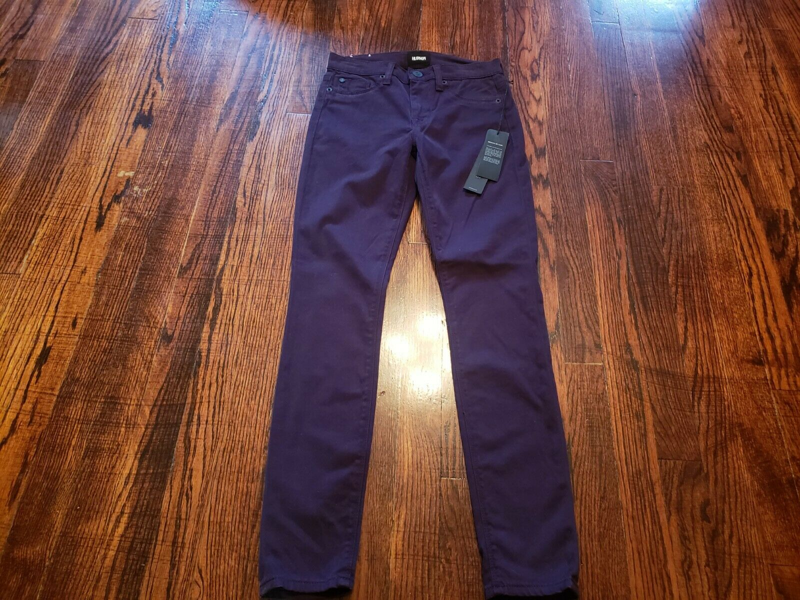 Hudson Midrise NICO Super Skinny Ankle Women's Jeans Purple 24 NEW NWT