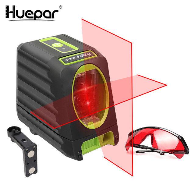 Huepar 2 lignes rot Faisceau Croix Ligne Laser Niveau Auto-nivellement Grünica