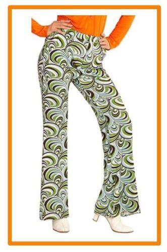 Schlaghose Damen Hose 60er K 70er Jahre Hippie Retro Kostüm Karneval