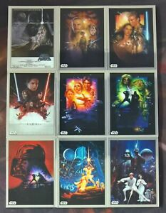 2019-Topps-Star-Wars-Chrome-Legacy-MOVIE-POSTER-Insert-Cards-Pick-Your-Own