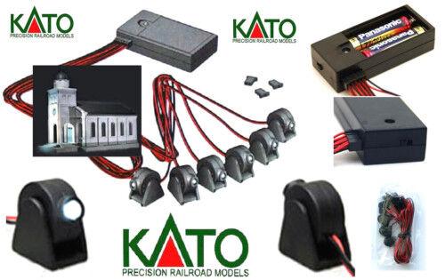 Kato c2 Kit n.6 Spot Adjustable LED 3v Weiß Train Cars Locomotives Dioramas Scale