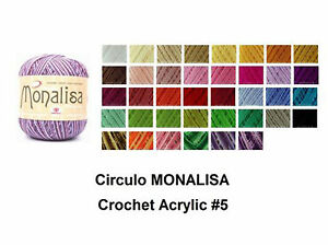 Circulo-MONALISA-100g-500m-Crochet-Soft-Acrylic-KnittingThread-5-Solid-amp-Random