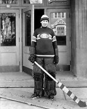 1925 Montreal Canadiens GEORGES VEZINA Glossy 8x10 Photo Hockey Print Portrait