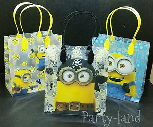 Image Is Loading 24 Deable Me Minions Loot Goody Bags Birthday