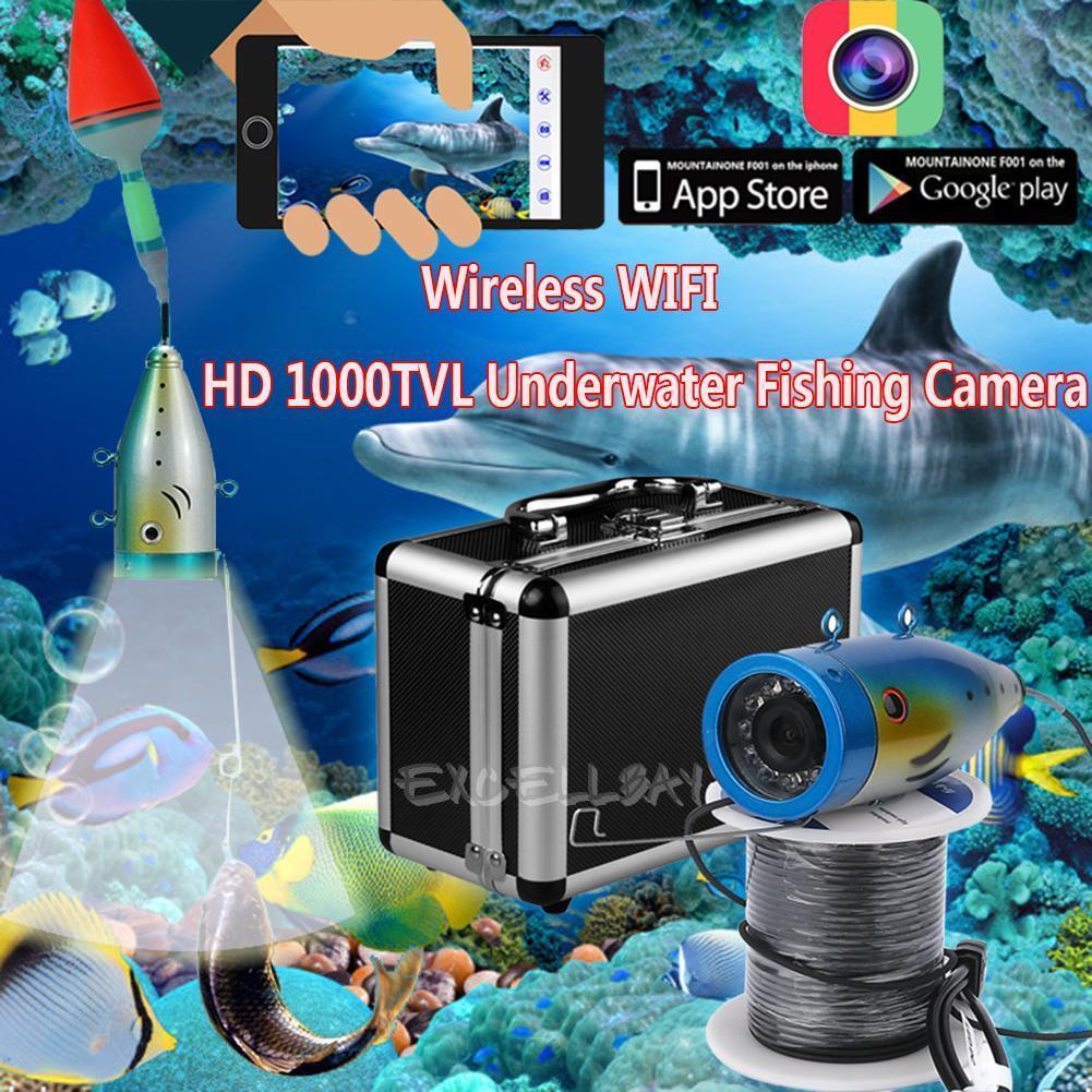 Wifi Inalámbrica 20M bajo el agua impermeable visión nocturna Cámara Video Record de pesca