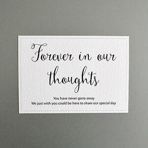 wedding memorial sign forever in our thoughts ebay