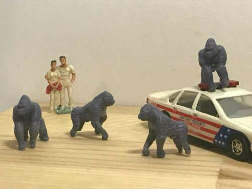 Ho 1//87 Scale Gorilla family Set