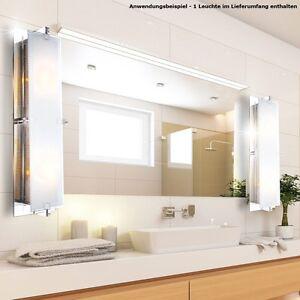 Wand Spiegel Leuchte Badezimmer Feucht Raum Glas Beleuchtung Lampe