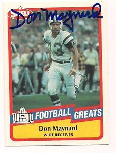 1989-Swell-HOF-Auto-Don-Maynard-New-York-Jets