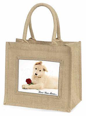 weiß Shepherd+Rose 'Liebe, die Sie Mama' groß Natürliche Jute Einkauf Tasche,