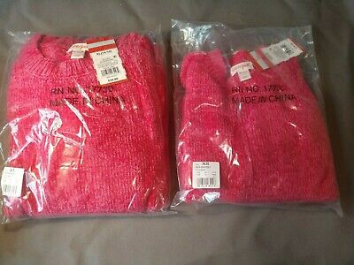 Cat /& Jack Red Berries//546642 Pink Sweater with Bell Sleeves Girls 4//5 XSMALL