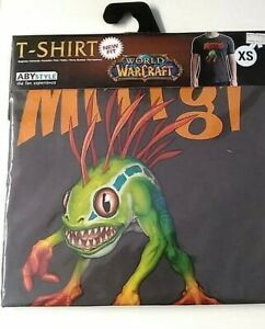 T-shirt-World-Of-Warcraft-Murloc-Dark-Grey-New-Fit-Tagli-XS