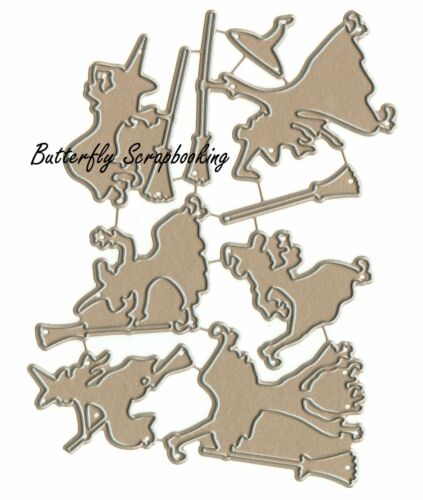 Halloween Witch Set Small Die Cutting Dies by Impression Obsession DIE457-Y New