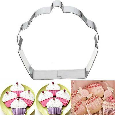 1X Stainless Steel Cupcake Cookie Cutter Fondant Biscuit Pastry Baking Mould New