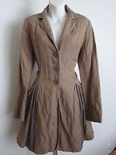CAbi Treasure Hunter Collector trench coat jacket steampunk pinup dress khaki S