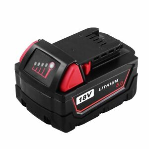 5-0AH-Replace-for-Milwaukee-M18-18V-XC-Red-Lithium-Battery-48-11-1820-48-11-1850