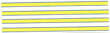 Set di 4 BLU STRISCE GIALLE Decalcomania ideale per il codice 3 1/43 POLIZIA ambulanze