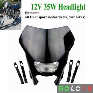 Dirt Bike Headlight Fairing Kit Black For Yamaha Honda WR