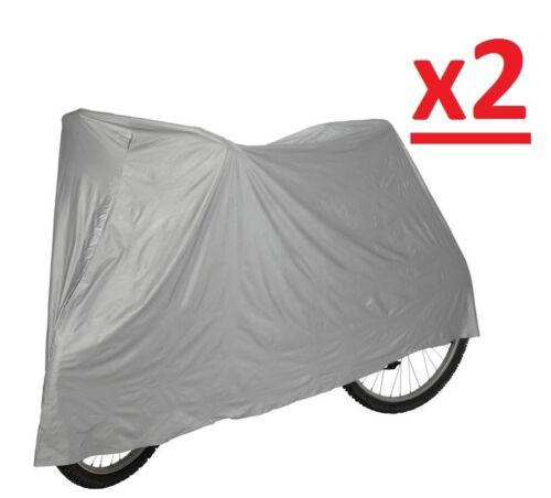2 x Universal Waterproof Cycle Bicycle Bike Cover Rain Resistant Water Proof