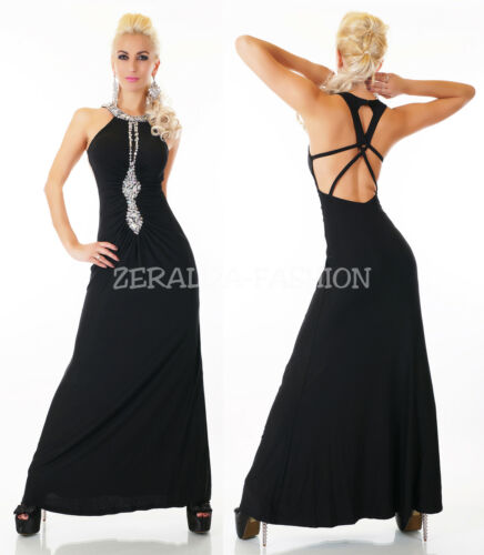 Feast 38 40 Ball sexy Rhinestone Nobile da Black Maxi 34 Dress sera Lace 36 XxFnF7