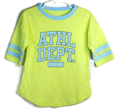 New DANSKIN NOW Spring Summer Athletic Dept Yellow Shirt Top Sz 4-5 or 6-6X