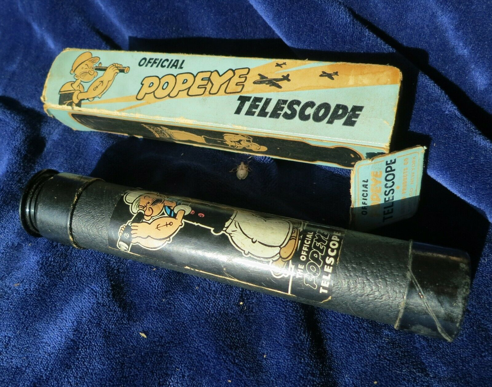 Rare Vintage Official Popeye Telescope in box, United Products Co, NY, Nice