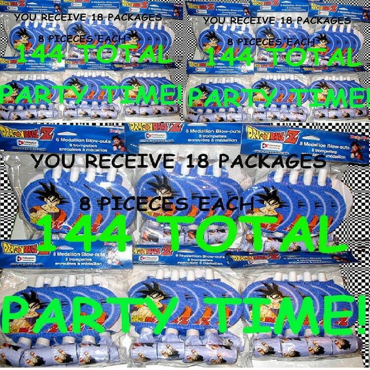 (lot of 144) DragonBall Z Blow-Outs Party Gift Gift Gift Favors BRAND NEW FACTORY SEALED  53c2f8