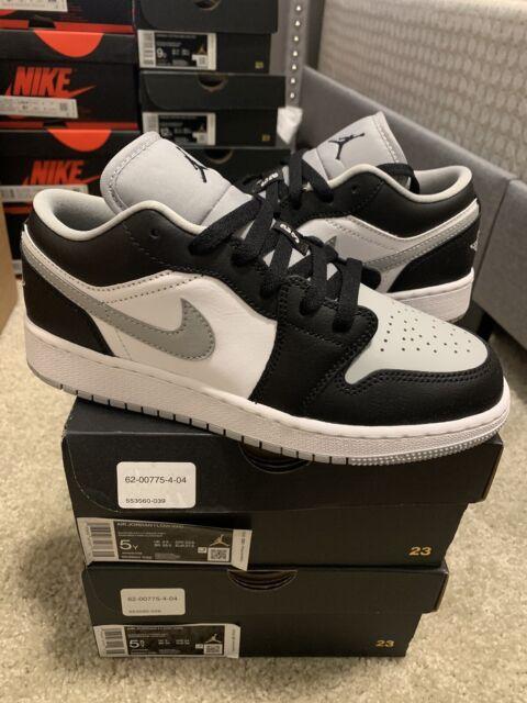 Nike Air Jordan Retro 1 Low Shadow Grey Toe Black Mens Size 10 553560-039