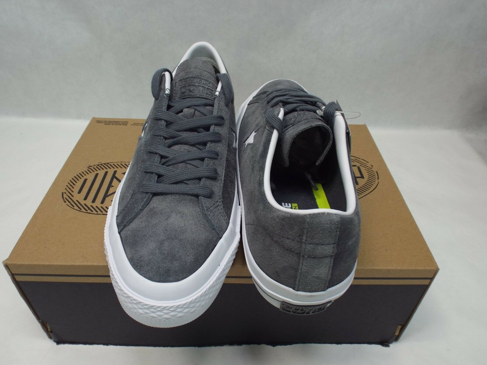 New Mens 13 13 13 Converse One Star Suede OX Thunder grau Leather  80 153962C 363d89