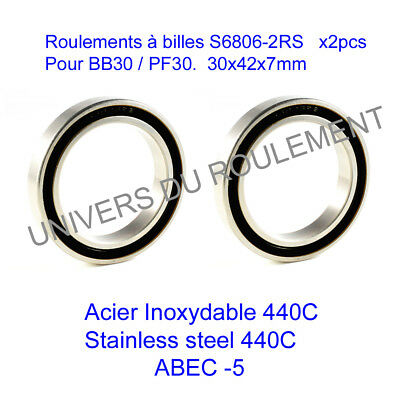 61806-2RS RODAMIENTO CYCLISME VELO VTT ROULEMENT A BILLES 30X42X7 6806 2RS 1pc