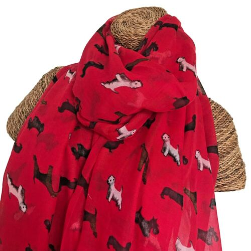 Mixed Dogs Scarf Westie Dachshund Scottish Airedale Terriers Dogs Superb Quality