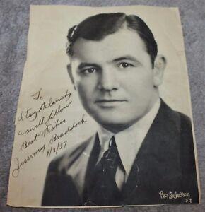 HAND-SIGNED-amp-DATED-1937-JIMMY-JAMES-BRADDOCK-WORLD-HEAVYWEIGHT-CHAMPION