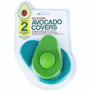 2pcs Avocado Keeper Saver Food Hugger Storage Covers Stay Fresh Silicone