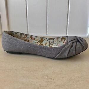 Women's charcoal grey slip on flats | eBay