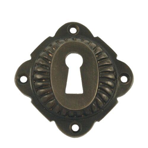 Intérieur Serrure De Porte Rosette Serrure à clé Losange forme de patiniertem Laiton Antique Look