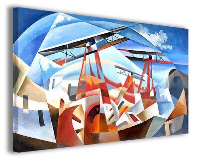 Quadro moderno famoso Tullio Crali vol VII stampa su tela canvas arredo poster