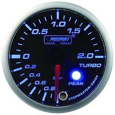 PROSPORT 52mm Premier Blue & Super White Led Turbo Boost Gauge BAR