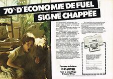 PUBLICITE ADVERTISING 064  1982  CHAPPEE   pompe à chaleur  ( 2 pages)